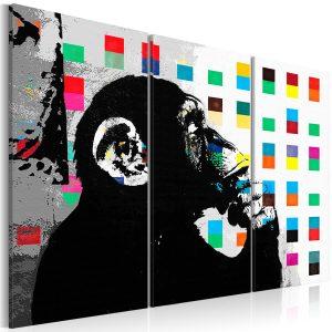 Obraz - The Thinker Monkey by Banksy