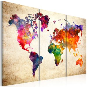 Obraz - The World's Map in Watercolor