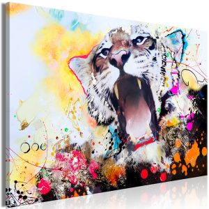 Obraz - Tiger's Roar (1 Part) Wide