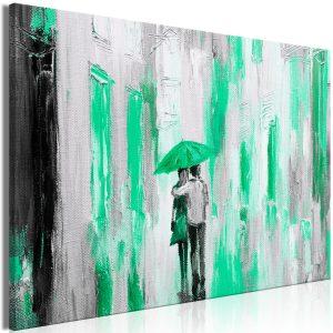 Obraz - Umbrella in Love (1 Part) Wide Green