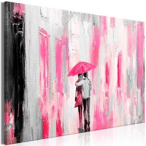 Obraz - Umbrella in Love (1 Part) Wide Pink