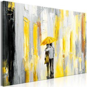 Obraz - Umbrella in Love (1 Part) Wide Yellow
