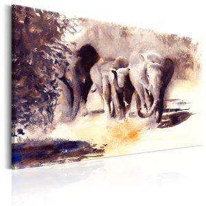 Obraz - Watercolour Elephants
