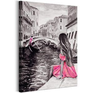 Obraz - Woman in Venice (1 Part) Vertical