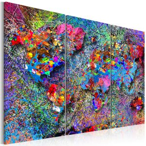 Obraz - World Map: Colourful Whirl