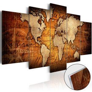 Obraz na akrylátovom skle - Acrylic prints – Bronze map I