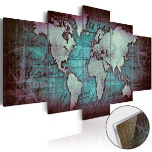 Obraz na akrylátovom skle - Acrylic prints – Bronze map II