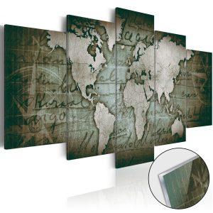 Obraz na akrylátovom skle - Acrylic prints – Bronze map III