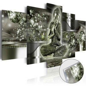 Obraz na akrylátovom skle - Emerald Buddha [Glass]