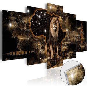 Obraz na akrylátovom skle - Golden Lion [Glass]