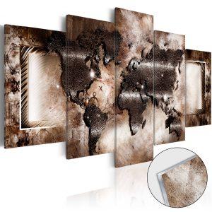 Obraz na akrylátovom skle - Platinum Map [Glass]