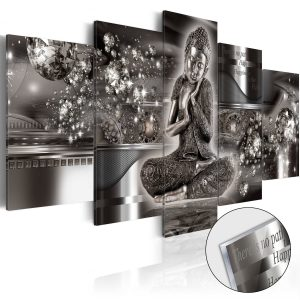 Obraz na akrylátovom skle - Silver Serenity [Glass]