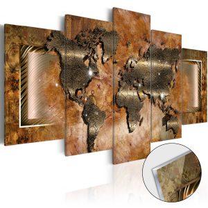 Obraz na akrylátovom skle - Steel Map [Glass]