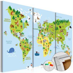 Obraz na korku - Children's World [Cork Map]