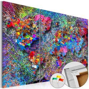 Obraz na korku - Colourful Whirl [Cork Map]
