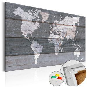 Obraz na korku - Grey Earth [Cork Map]