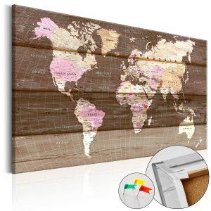 Obraz na korku - Wooden World [Cork Map]