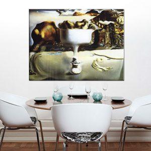 Obraz na plátne APPARITION ON FACE AND FRUIT DISH ON A BEACH  – Salvador Dalí RE
