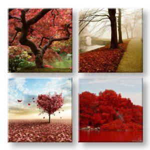 Obraz na stenu Colorful world 4 dielny XOBKOL26E42