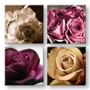 Obraz na stenu  Kingdom of roses 4 dielny XOBKOL29E42