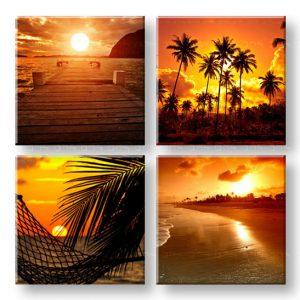 Obraz na stenu Summer time 4 dielny XOBKOL23E42