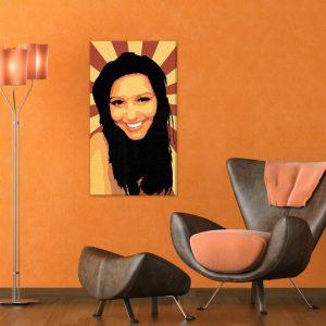 Ručne maľovaný POP Art obraz The Girl 90x50cm zuz