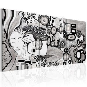 Ručne maľovaný obraz - Silver Kiss