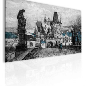 Obraz - Reprodukce Praha Karlův most III 110x75 cm