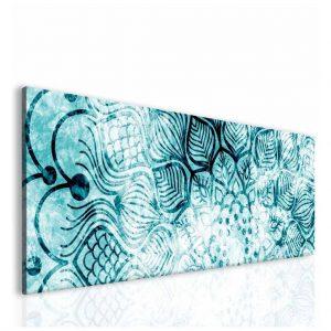 Obraz Ledové modrá mandala 150x50 cm