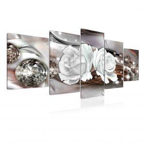Obraz abstraktní růže šedá