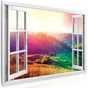 Obraz výhled do barevné krajiny