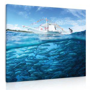 Obraz Hejno ryb 90x90 cm