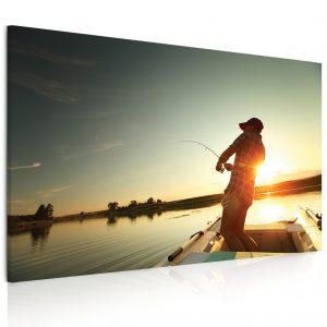 Obraz rybaření na jezeru