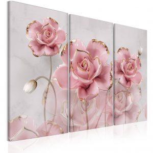 Obraz květiny z porcelánu