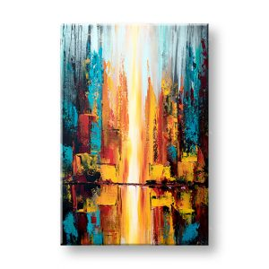 Maľovaný obraz na stenu ABSTRAKT 1 dielny YOBATAB002E1