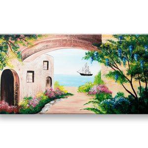 Maľovaný obraz na stenu KRAJINA 1 dielny YOBATLN005E1