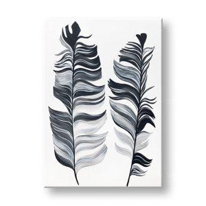 Maľovaný obraz na stenu PIERKA 1 dielny YOBATIN001E1